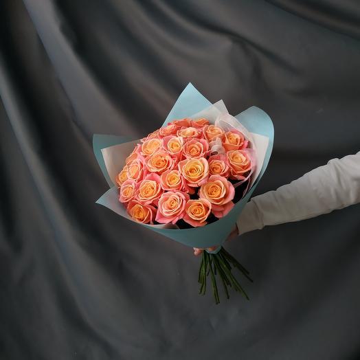 """Букет""""25 персиковых роз"""""""