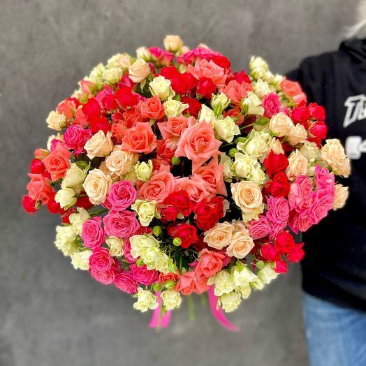 Букет 51 кустовая Роза микс