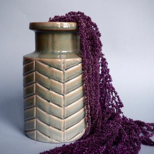 Керамическая ваза с эффектом кракле
