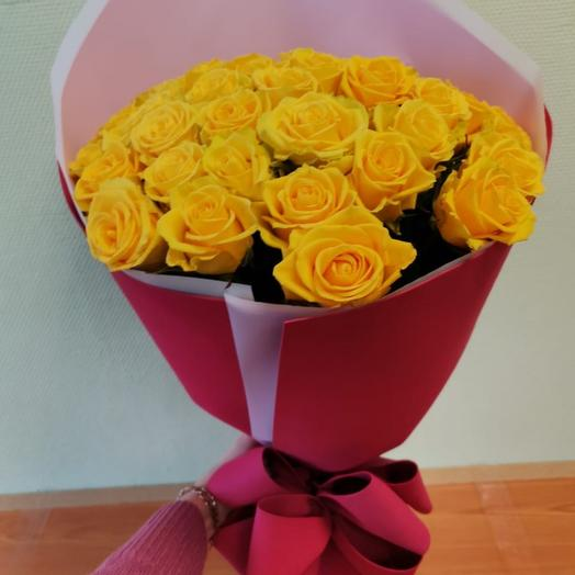 Букет из 45 желтых роз