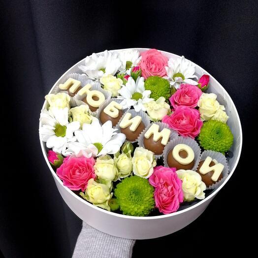 Цветы в коробке Любимой