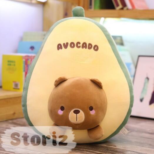 """Мягкая игрушка-подушка """"Avocado with bear"""" 45 см"""