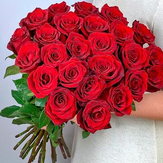 Монобукет из 25 шт роз