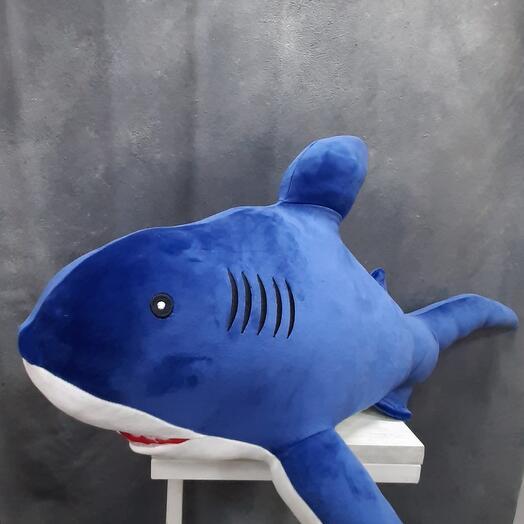 Синяя акула обнимашка XL