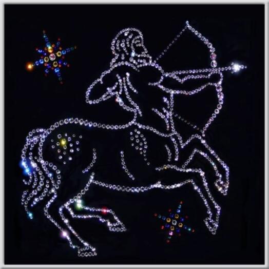 "Картина с кристаллами Swarovski ""Стрелец Кентавр"""