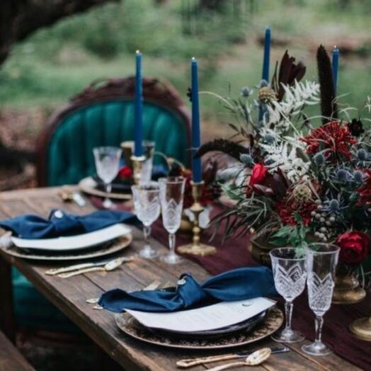 Оформление свадьбы ЛАЗУРЬ