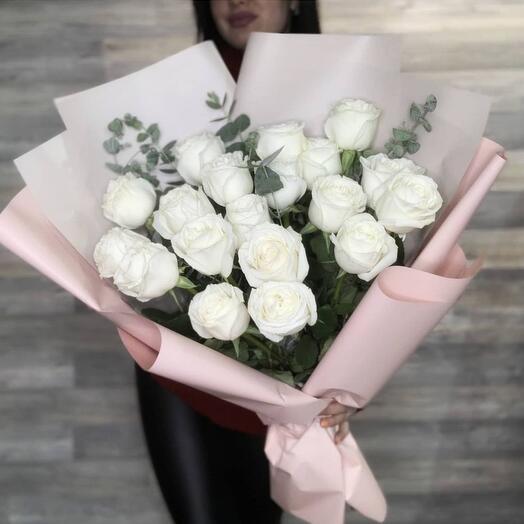 19 роз в объёмной упаковке ❣️
