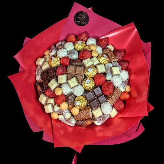 Съедобный букет из конфет