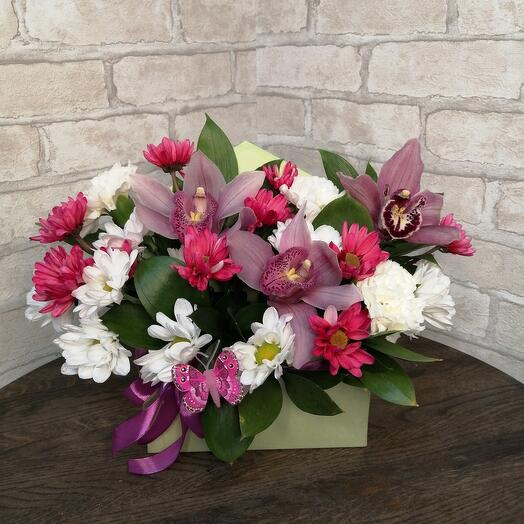 Floral compliment with orchids