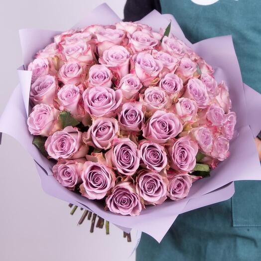 Букет сиреневой розы