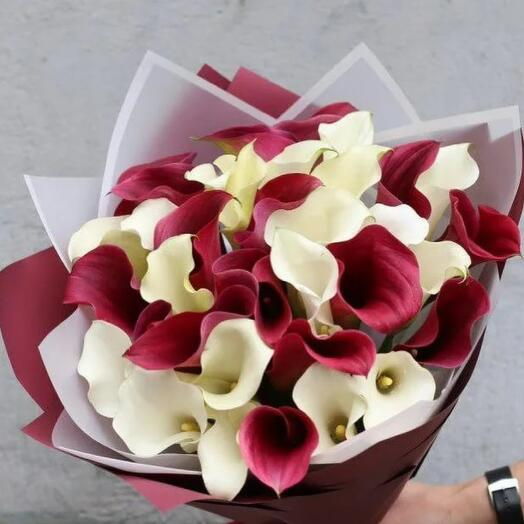 Калла розовая и красная 39