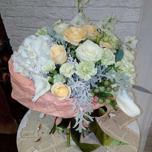 Айвори с белым: букеты цветов на заказ Flowwow
