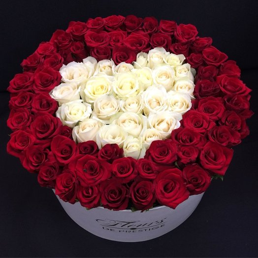 коробка с 91 розой