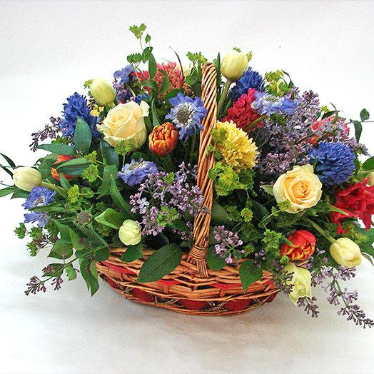 Цветочная корзина «Джулия»: букеты цветов на заказ Flowwow