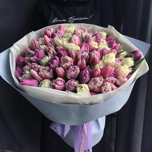 101 поцелуй: букеты цветов на заказ Flowwow