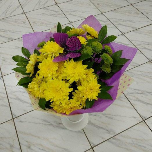 Букет из хризантем 4