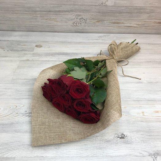 Букет из 9 красных роз (50см) N36: букеты цветов на заказ Flowwow