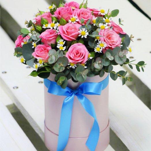 Шляпная коробка мини 6: букеты цветов на заказ Flowwow