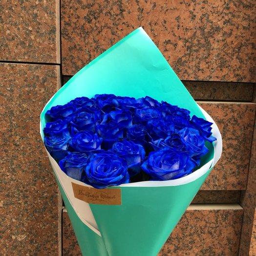 Самые синие розы: букеты цветов на заказ Flowwow