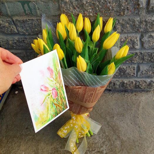 19 тюльпанов: букеты цветов на заказ Flowwow