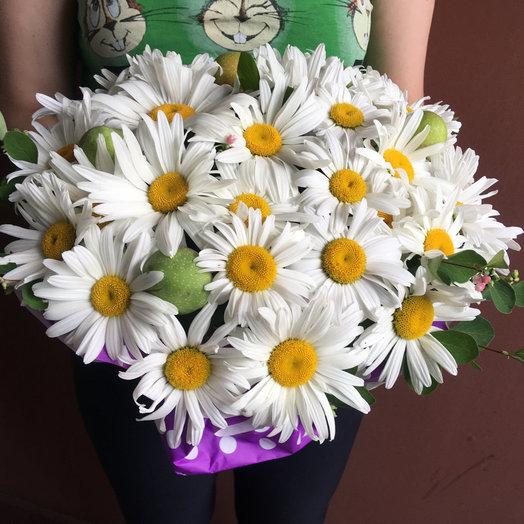 Мешочек с ромашками : букеты цветов на заказ Flowwow