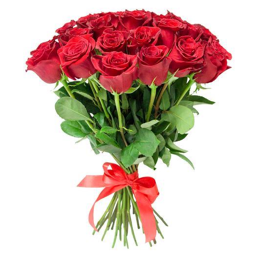 25 красных роз (40 см): букеты цветов на заказ Flowwow