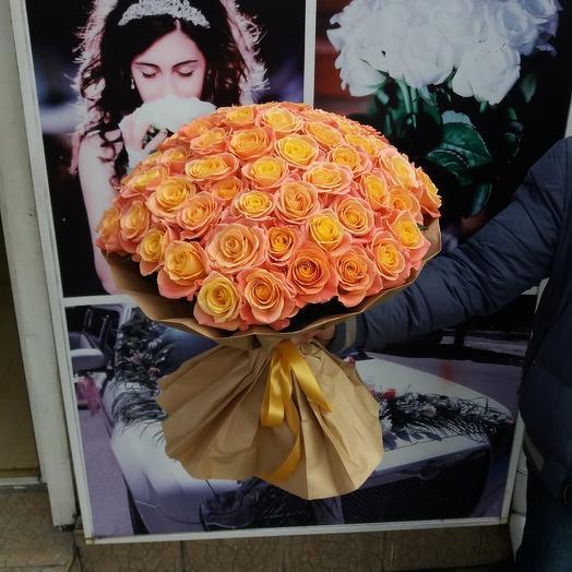 """Букет из 51-ой розы """"Мисс Пигги"""""""