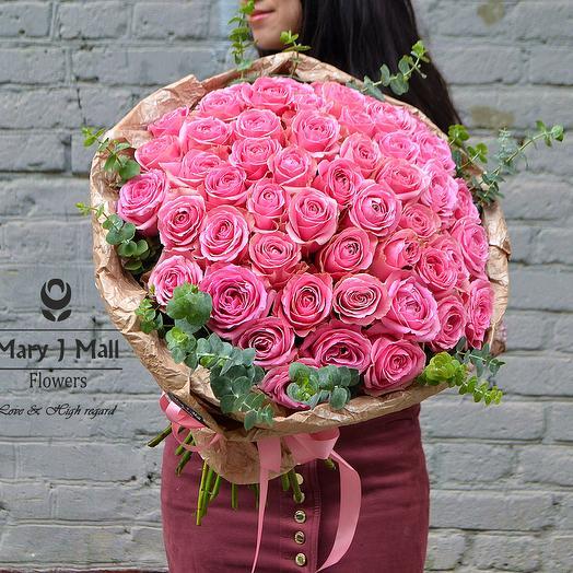 MJM. 51 роза варм: букеты цветов на заказ Flowwow