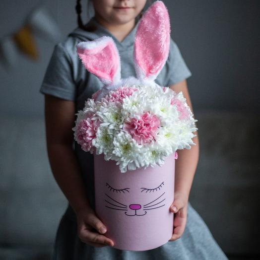 «Моей любимой зайке»: букеты цветов на заказ Flowwow