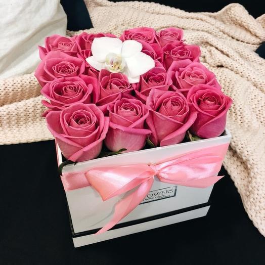 Стильная коробка: букеты цветов на заказ Flowwow