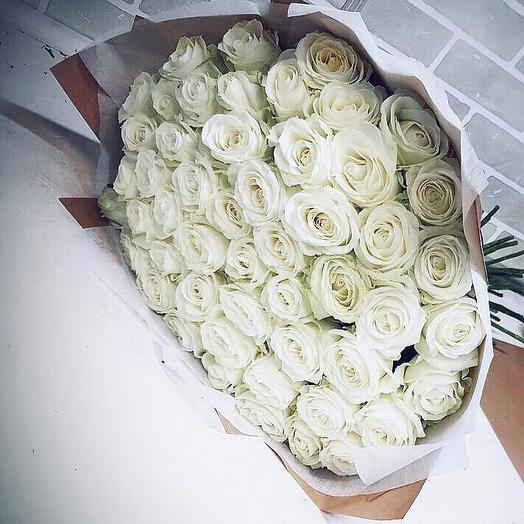Белоснежный презент: букеты цветов на заказ Flowwow
