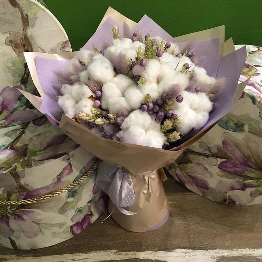 Хлопок и лён: букеты цветов на заказ Flowwow