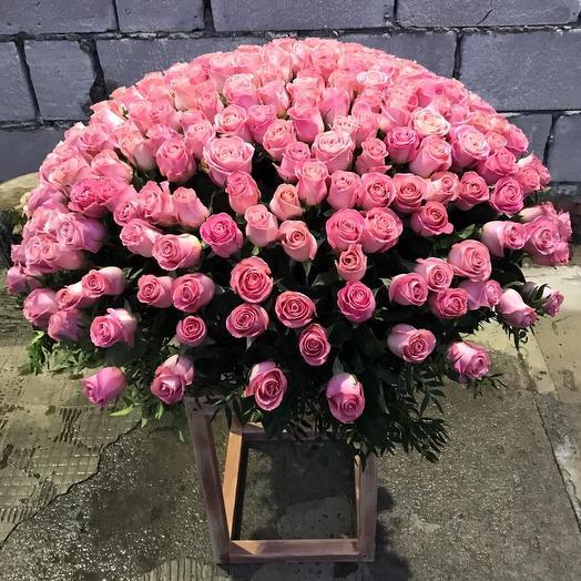 VIP корзина из 201 розы премиум класса 😍: букеты цветов на заказ Flowwow