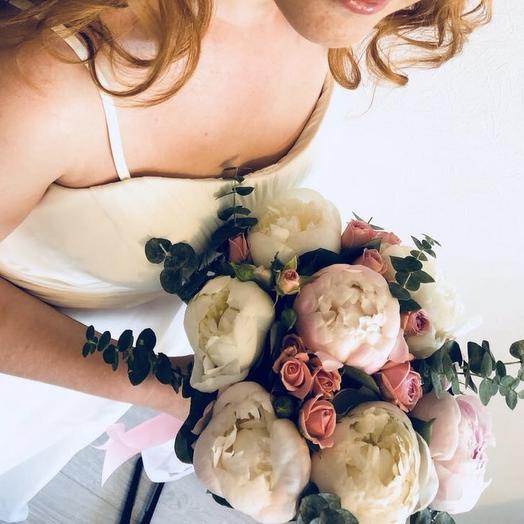 Свадебный букет из пионов: букеты цветов на заказ Flowwow