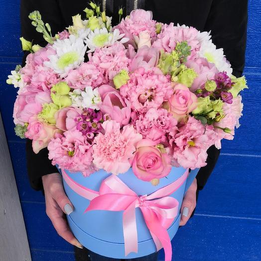 Большая коробка нежности: букеты цветов на заказ Flowwow