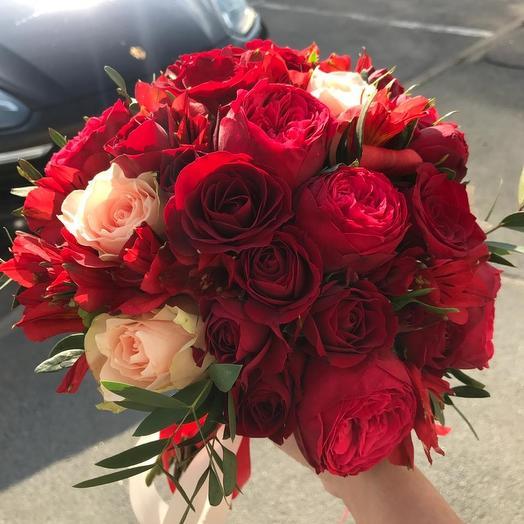 Букет невесты с пионовидной розой Пьяно: букеты цветов на заказ Flowwow
