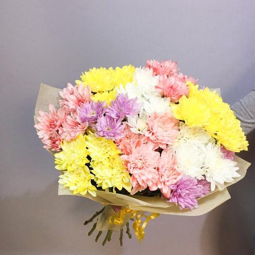 Букет из 11 кустовых хризантем: букеты цветов на заказ Flowwow