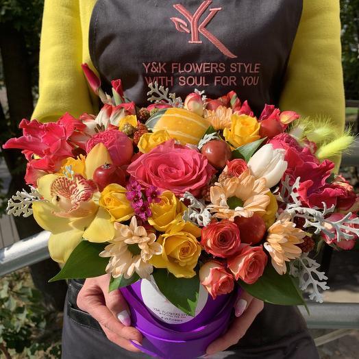 Необыкновенная коробочка: букеты цветов на заказ Flowwow