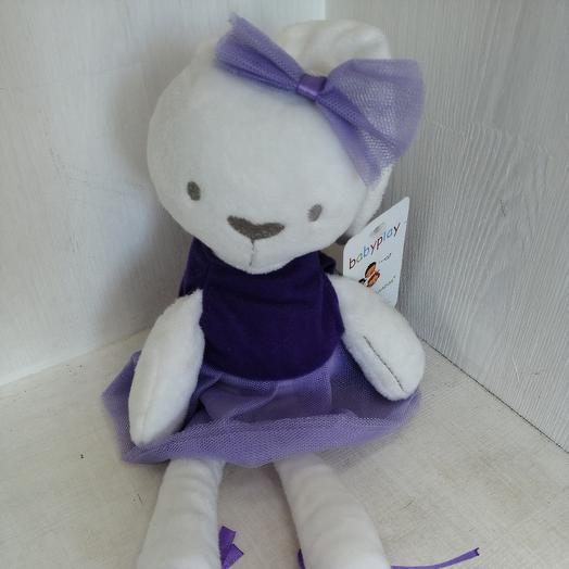 Плюшевый заяц девочка: букеты цветов на заказ Flowwow