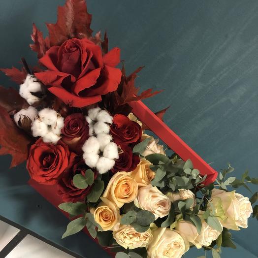 Багровая осень🍁🍂🌹🍁🍂🌹: букеты цветов на заказ Flowwow