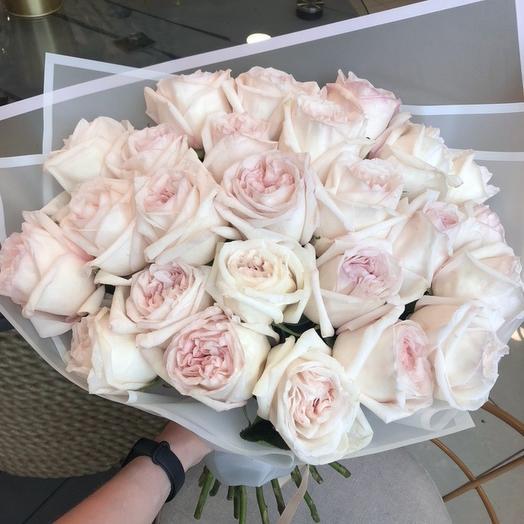Моно букет из роз white O Hara: букеты цветов на заказ Flowwow