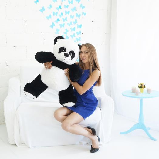 Мишка панда: букеты цветов на заказ Flowwow