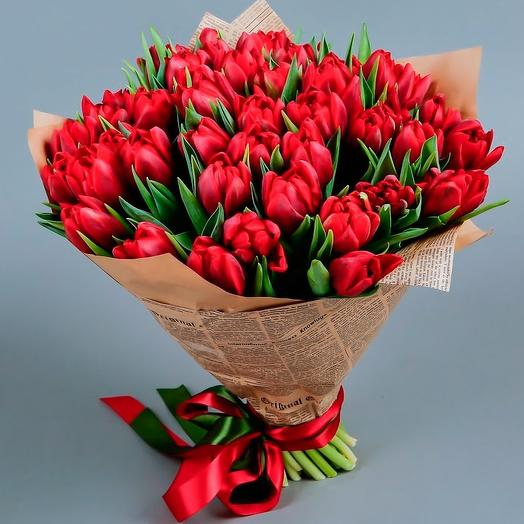 51 red Tulip: flowers to order Flowwow