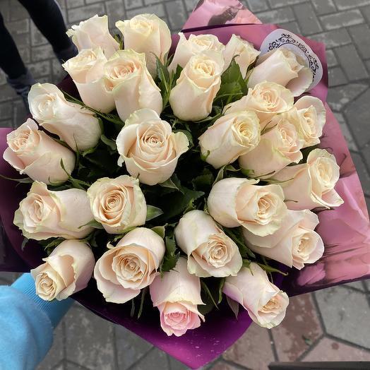 25 импортных роз: букеты цветов на заказ Flowwow