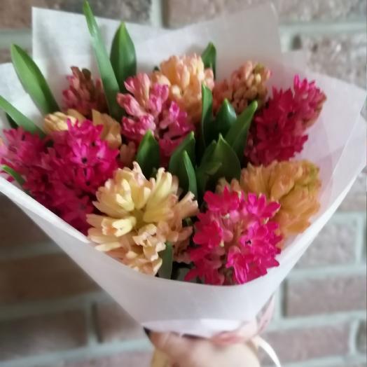Монобукет из гиацинтов: букеты цветов на заказ Flowwow