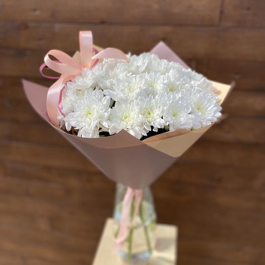 Букет «хризантема с бантиком»