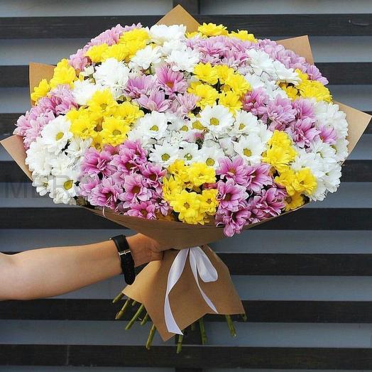 Букет из хризантем кустовых микс: букеты цветов на заказ Flowwow