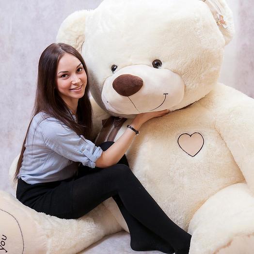 Большой Медведь Ричард 220 см (молочный)