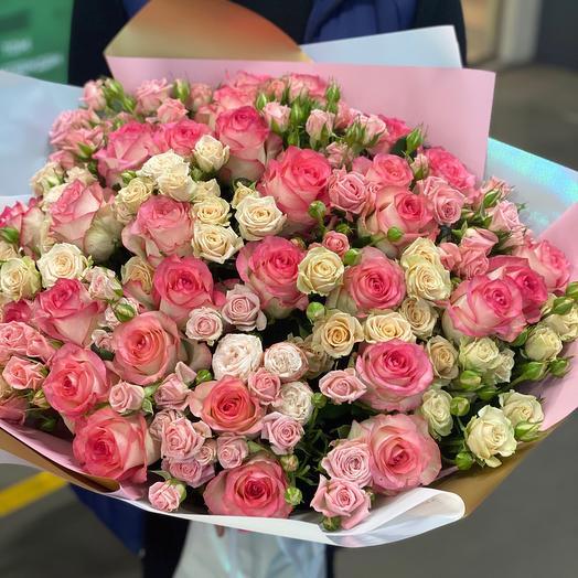 Сборный букет (51 роза)