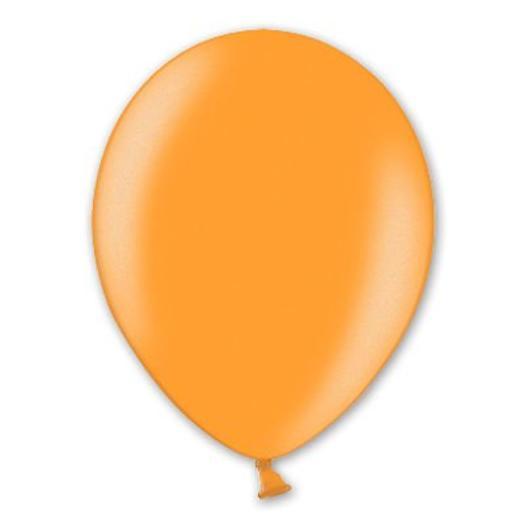 "Шар с гелием 12""/30 см оранжевый металлик"